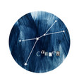the cancer zodiac constellation vector image vector image