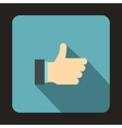 Thumb up gesture icon flat style vector image vector image