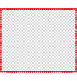valentines day or wedding border vector image vector image