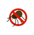 Warning sign with bug icon isometric 3d style vector image vector image