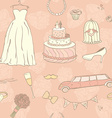 Wedding Day Pattern vector image vector image