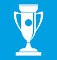 winning cup icon white vector image vector image
