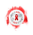 world aids day emblem vector image