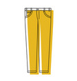 yellow watercolor silhouette of male pants vector image vector image