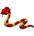 Colourful scary snake vector image
