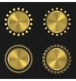 Golden medal set vector image