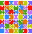 Jigsaw puzzle color parts template 7x7 pieces vector image