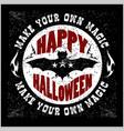 halloween stamp - vector image