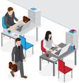 isometric office work vector image