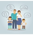 Family Dreaming Flat vector image