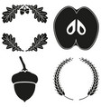 4 black and white harvest silhouette elements set vector image vector image