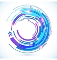 Abstract blue techno spiral background vector image vector image