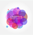 abstract colorful background sumi circle design vector image