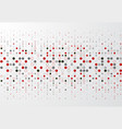 abstract technology background with red and gray vector image vector image