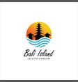 bali island logo design
