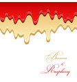 banana sauce and raspberry jam seamless pattern vector image vector image