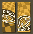 banners for chess vector image vector image