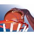 basketball illustration vector image vector image