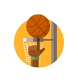 Basketball Round Sticker vector image vector image