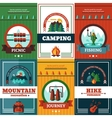 Camping Poster Set vector image vector image