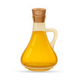 carafe with oil isolated on white background vector image