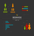 collection of infographic people elements vector image vector image