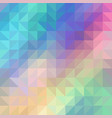 colorful rainbow polygon background vector image
