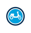 cute scooter icon editable logo icon vector image vector image