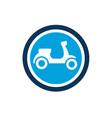 cute scooter icon editable logo icon vector image