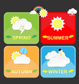 cute season weather icon vector image vector image