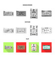 design of ticket and admission icon set of vector image