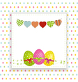 Easter background with panel and bunting vector image vector image