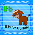flashcard letter b is for buffalo vector image vector image