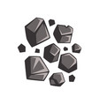 flat cartoon lumps of coal vector image vector image