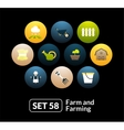 Flat icons set 58 - farm and farming vector image vector image