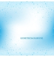Geometric blue background molecule and