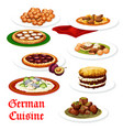 german cuisine meat and fish dishes vector image vector image