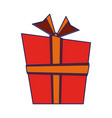 giftbox present cartoon isolated vector image vector image