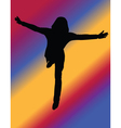 girl with background - vector image vector image