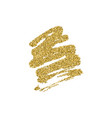 gold glitter brush stroke vector image
