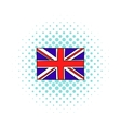 Great Britain flag icon comics style vector image vector image