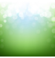 green nature background with bokeh vector image vector image