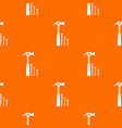 hammer and nails pattern seamless vector image vector image