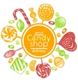 hand drawn composition with candies and vector image vector image