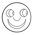 happy smiley face vintage engraving vector image vector image