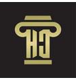hc logo monogram with pillar style design vector image vector image