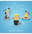 Healthy Lifestyle and Fitness Concept vector image
