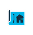 house drawing icon colored symbol premium quality vector image