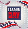 labor day weekend advertising banner design vector image