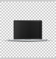 laptop without screen on transparent background vector image